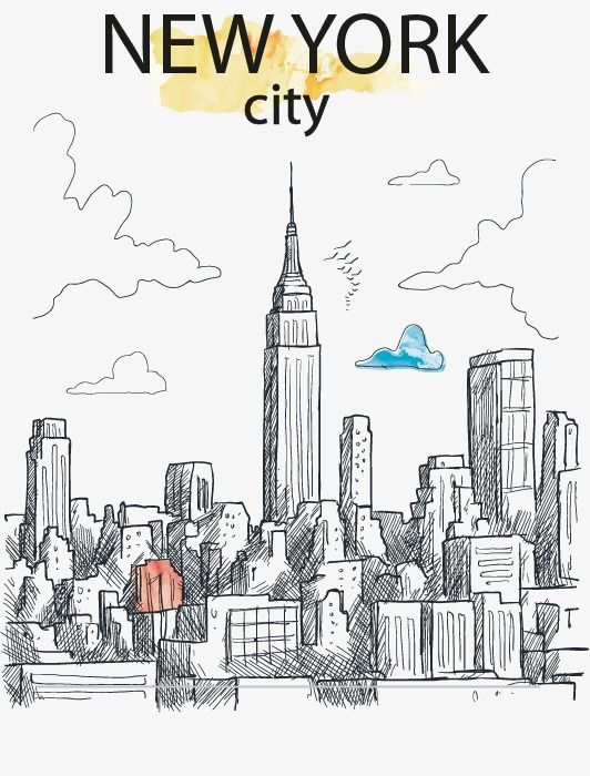 Creative Hand Painted New York City New Vector City Vector Hand Painted Png Transparent Clipart Image And Psd File For Free Download City Wall Art City Vector New York City