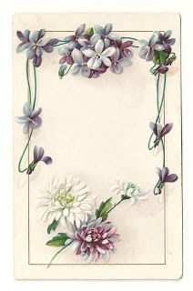 picture about Free Printable Flower Borders named Antique Visuals: Totally free Printable Flower Body: Typical Flower