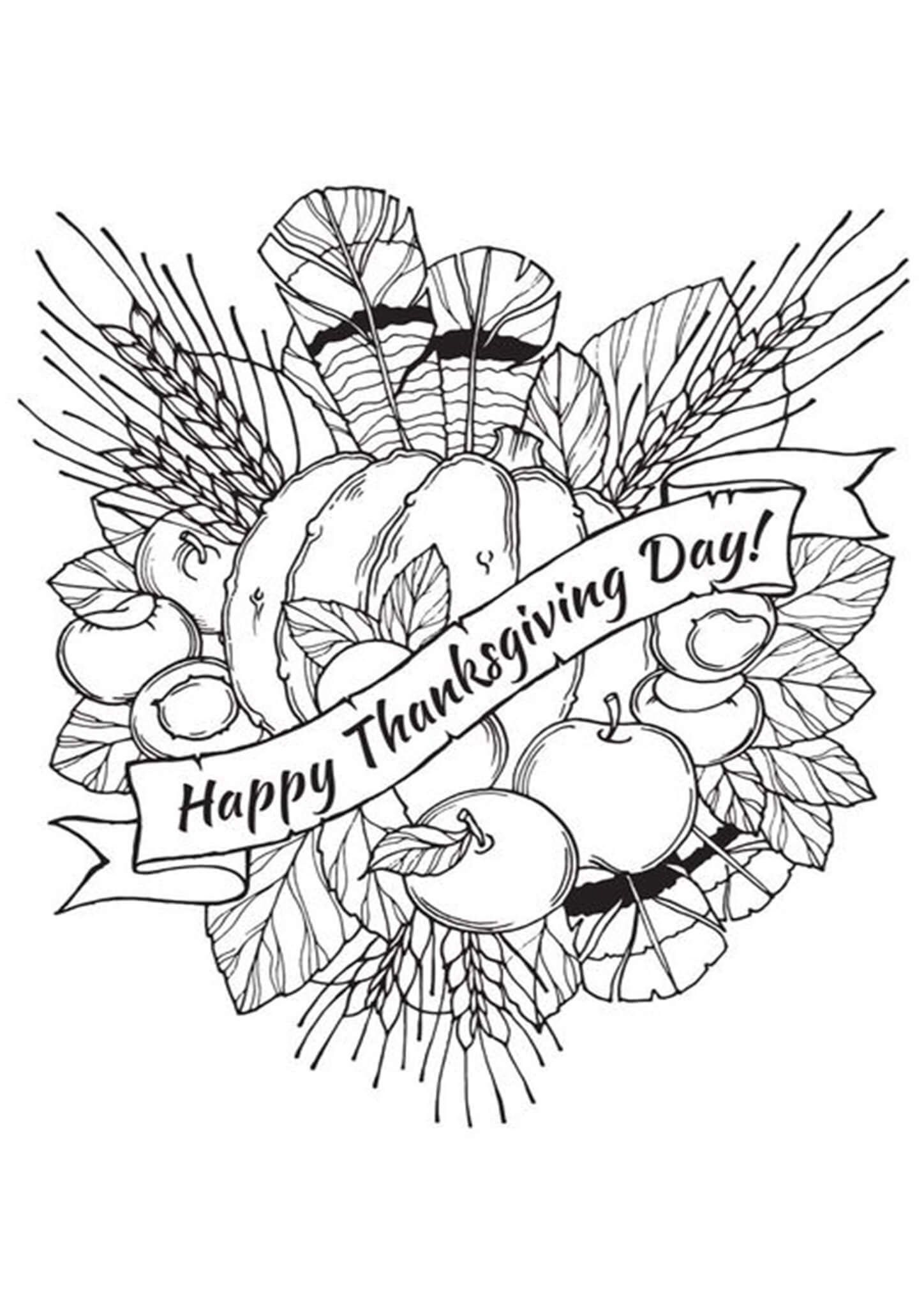 Free Printable Thanksgiving Coloring Pages Thanksgiving Coloring Pages Coloring Pages Free Thanksgiving Coloring Pages [ 2048 x 1448 Pixel ]