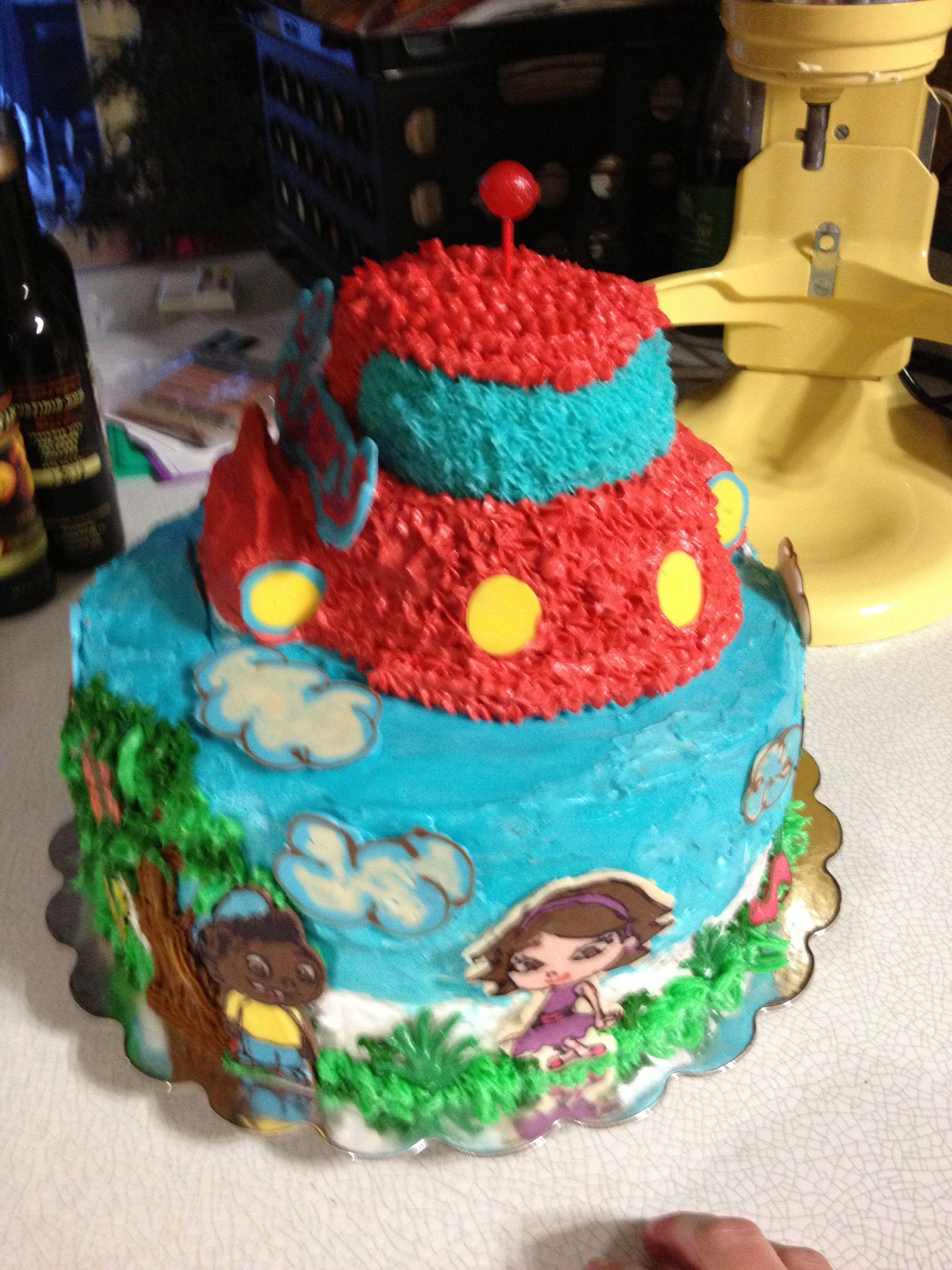 Little Einstein Birthday Cake Using Chocolate Transfers The Boys