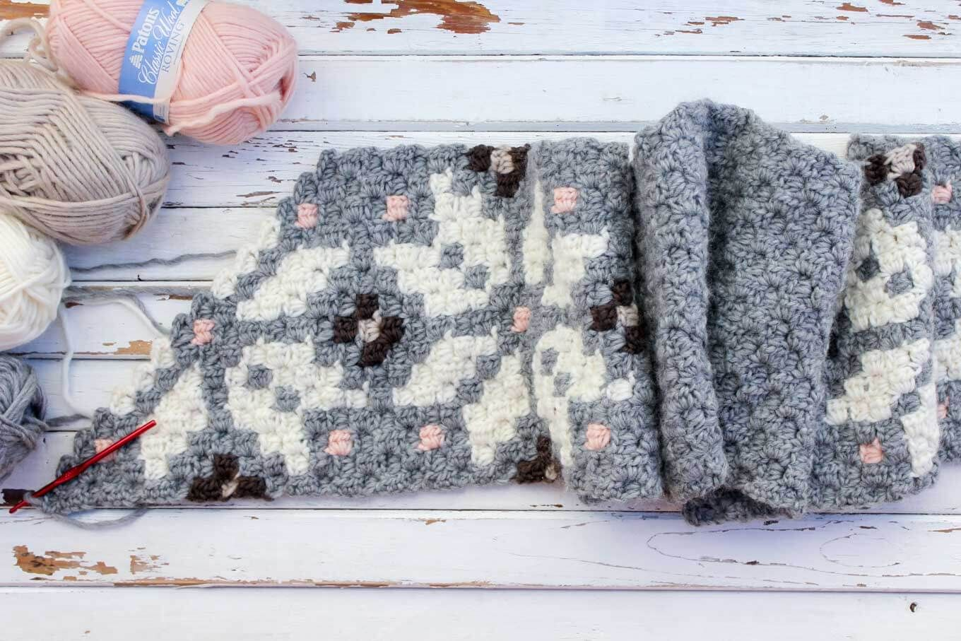 Free Nordic Crochet Super Scarf Pattern | Corner, Crochet and Patterns