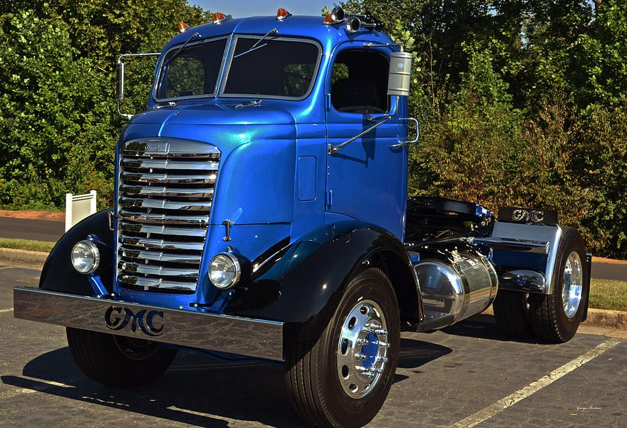 antique trucks for sale | Old Gmc Cab-over Truck Photograph - Old ...