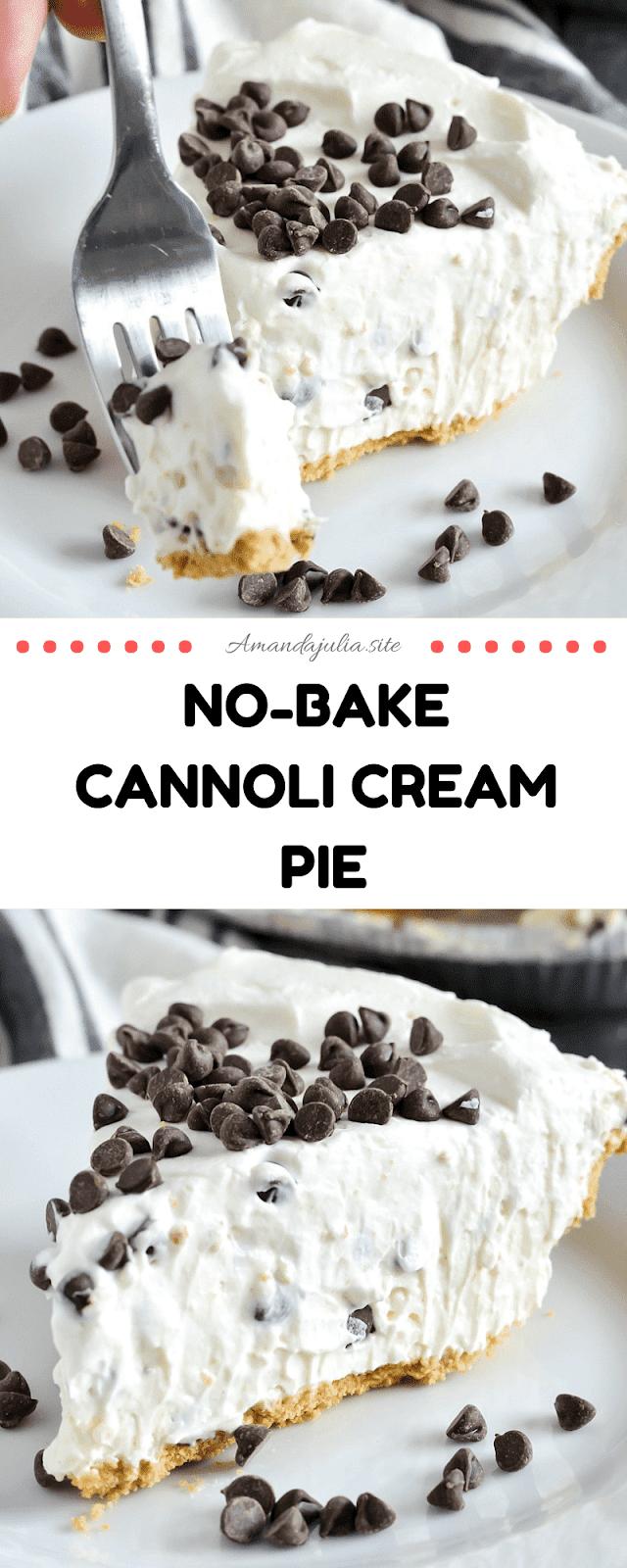 No-Bake Cannoli Cream Pie Recipe
