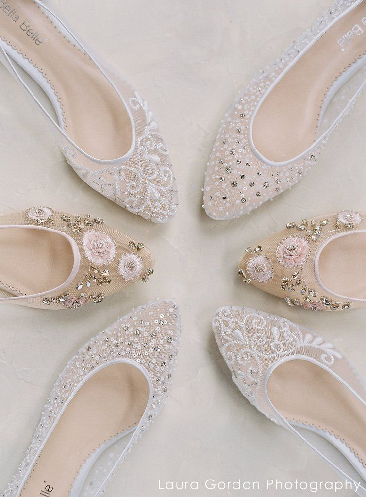 63dcbc050c9b51 Bella Belle Adora Blush Floral Beaded Wedding   Evening Flats