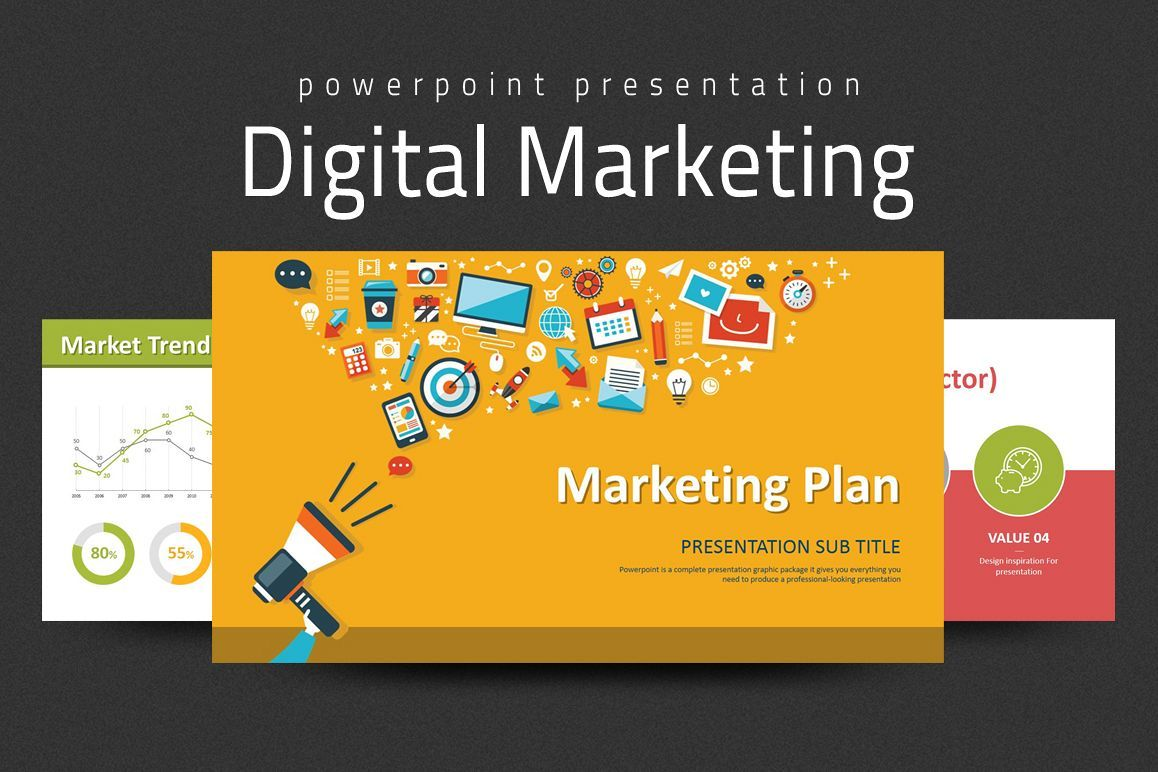 Digital Marketing Strategy Ppt 7625 Presentation Templates Design Bundles In 2020 Digital Marketing Strategy Marketing Strategy Template Digital Marketing Plan