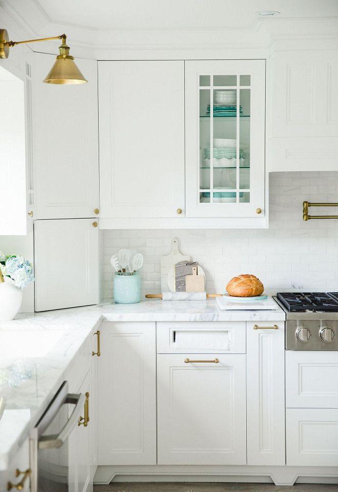 Brushed Brass Kitchen Cabinet Hardware. Pulls are from Restoration Hardware- Lugarno Pull in Aged Brass. Brushed Brass Kitchen Cabinet Hardware. & Brushed Brass Kitchen Cabinet Hardware. Pulls are from Restoration ...