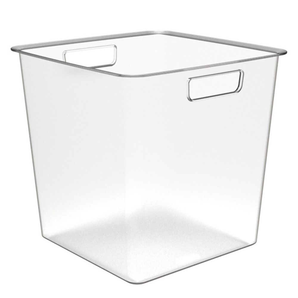 Deep Plastic Bin 13x13x13 Clear Made By Design Plastic Bins Made By Design Clear Storage Bins