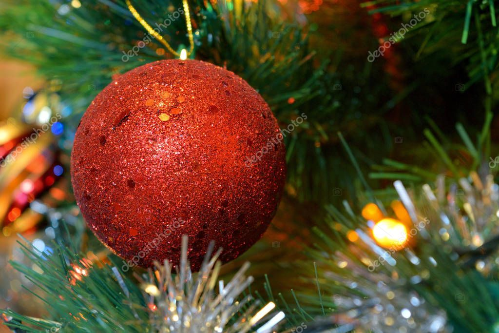 Christmas Balls Tree Lights Stars Stock Photo Sponsored Tree Balls Christmas Lights Ad In 2020 Christmas Balls Christmas Bulbs Tree Lighting