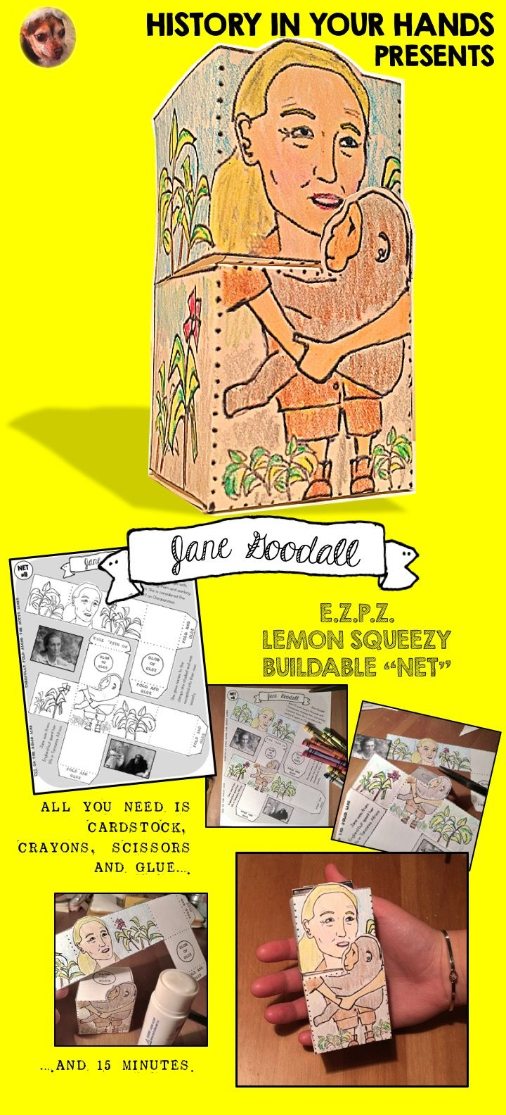 Jane Goodall Craft Project Jane Goodall Teaching Social