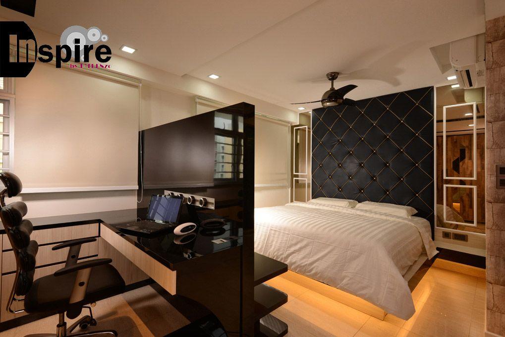 485 Segar Road, Resort HDB Interior Design, Master Bedroom With Study Area.