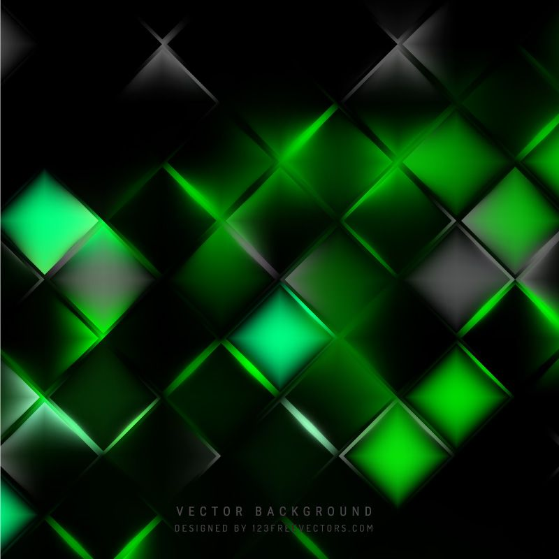 Abstract Black Green Square Background In 2020 Abstract Green