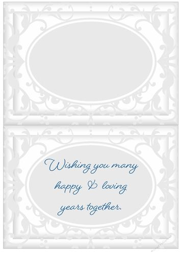 A useful insert for your Wedding Day cards.