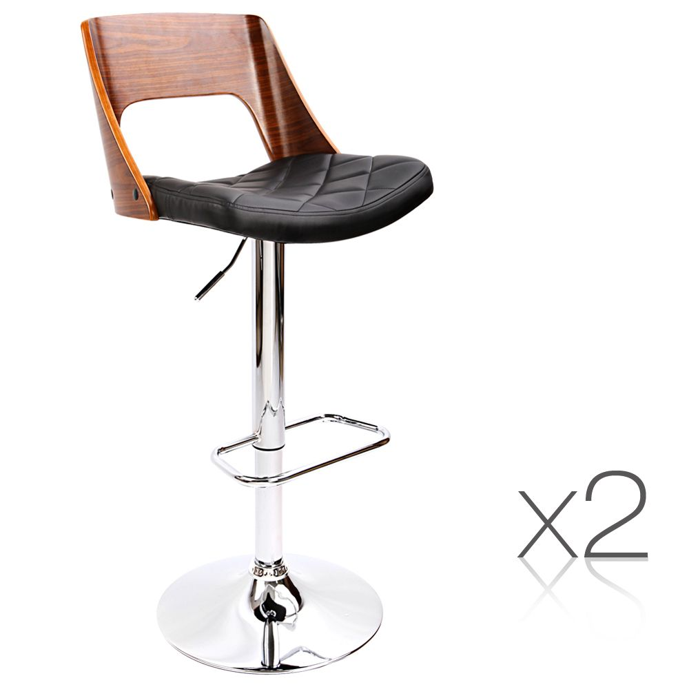 Wooden Amp Pu Leather Bar Stool Temple Amp Webster Leather