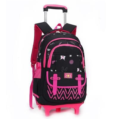 cf9ff5e48a Stylish Princess Style Girls Children School Bags With 2 6 Wheeled Trolley  Backpack Gift Girls Removable Trolley Children Bag