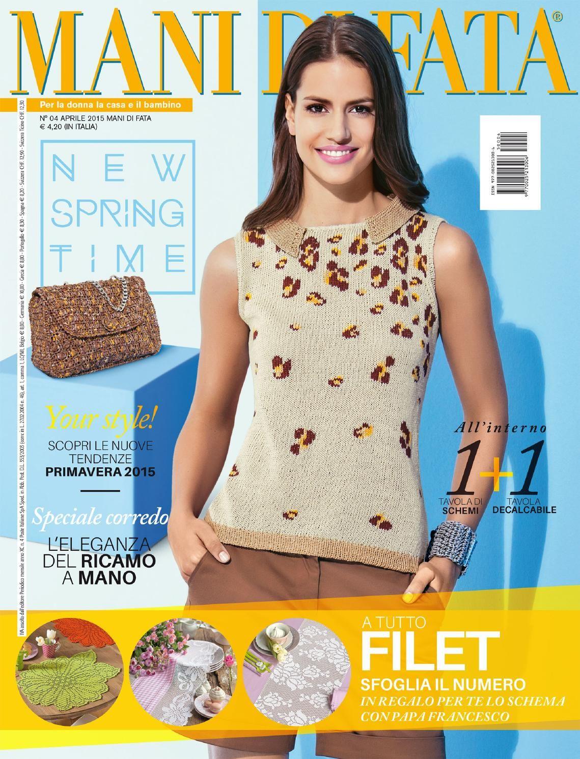 Mani Di Fata Aprile 2015 C8 Mf 04 15 Knitting Magazine Knitting Books Knitting