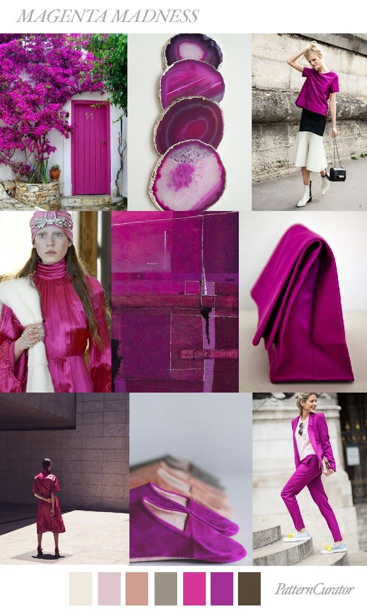 TRENDS // PATTERN CURATOR - MAGENTA MADNESS . AW 2018