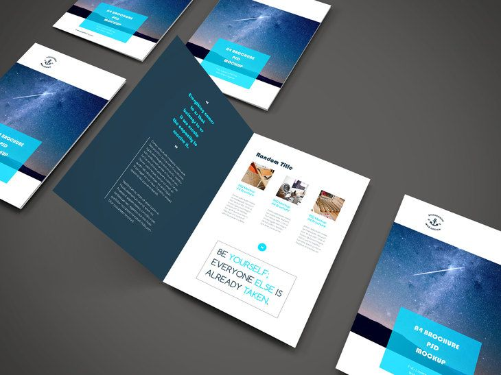 A4 Brochure PSD Mockup #free #photoshop #booklet #A4 #folded. Graphic Design  InspirationUi ...