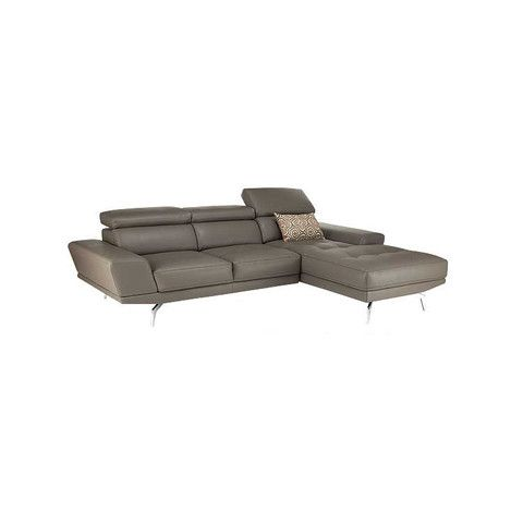 Kasala Modern Leather Sectional With Adjustable Headrests Furniture Seattle Sofa Options