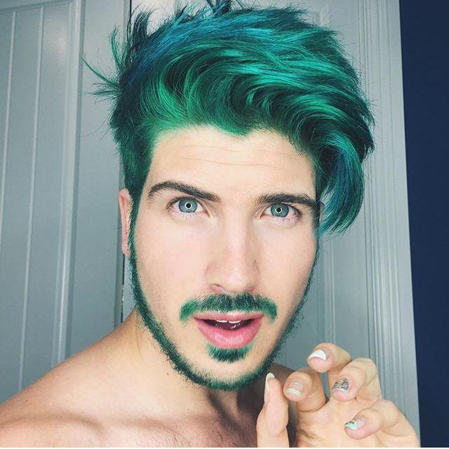 Joey Graceffa Green Hair Green Hair Men Men Hair Color