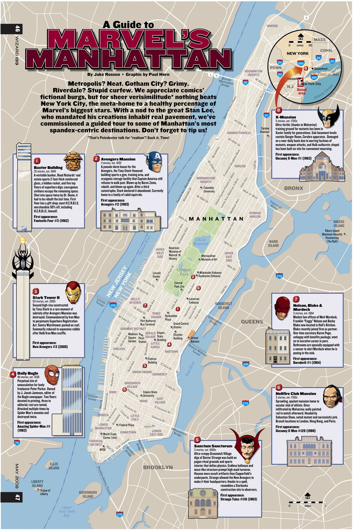 A Guide to Marvel\'s Manhattan | Cutaways, Instructions, Maps ...