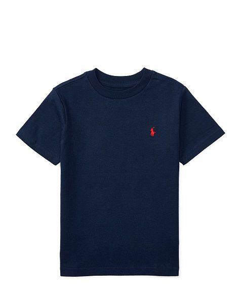 9ae86bfe Cotton Jersey Crewneck T-Shirt - Boys 2-7 Tees - RalphLauren ...