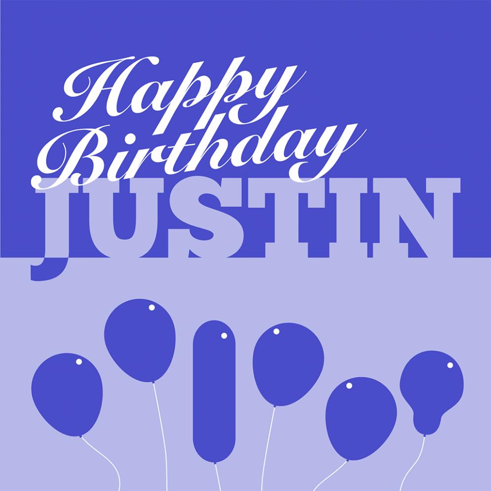 8 Design Justin Timberlake Happy Birthday Card di 8