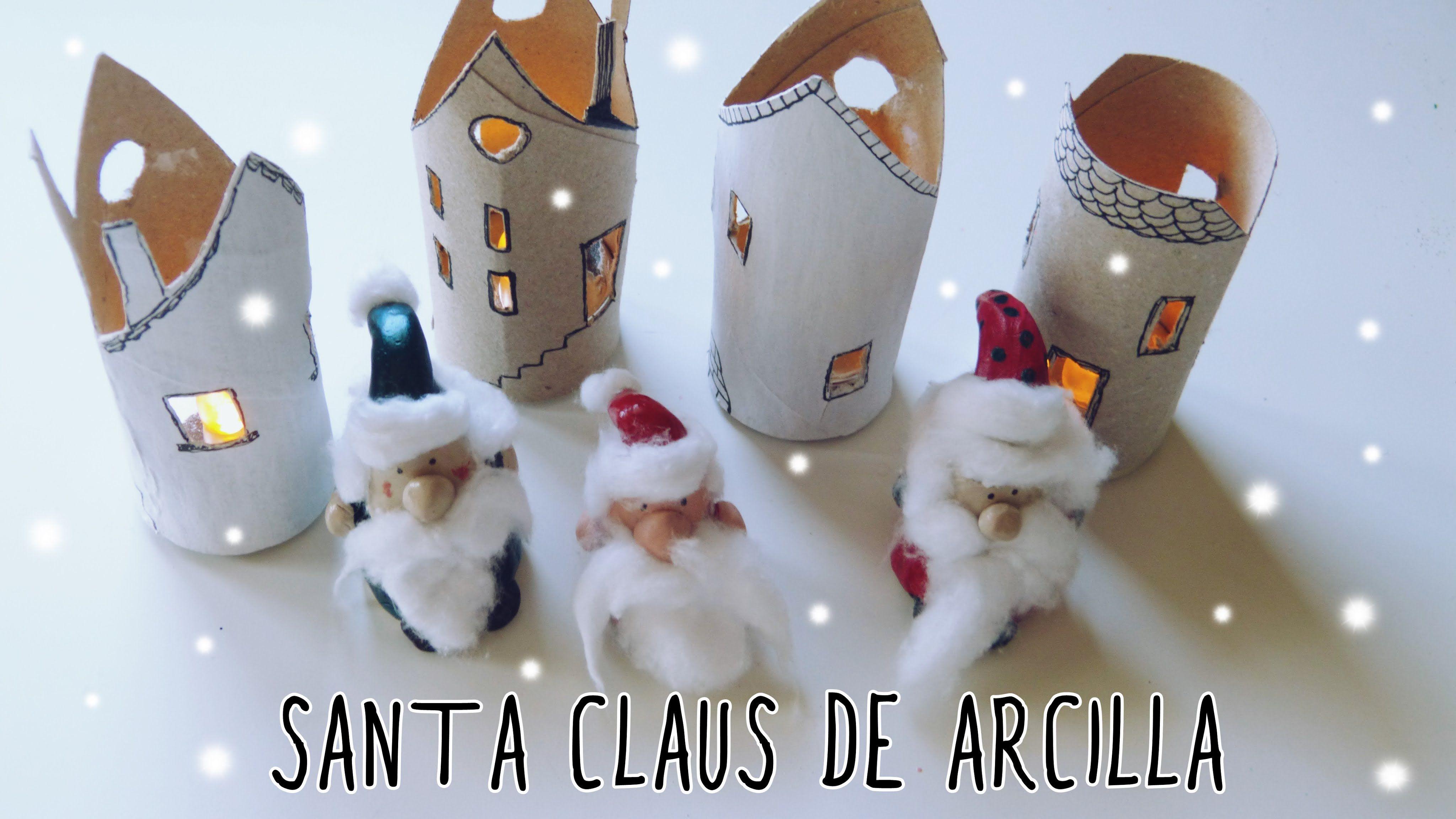 Adornos de navidad diy santa claus o pap noel - Adornos de navidad hechos a mano por ninos ...