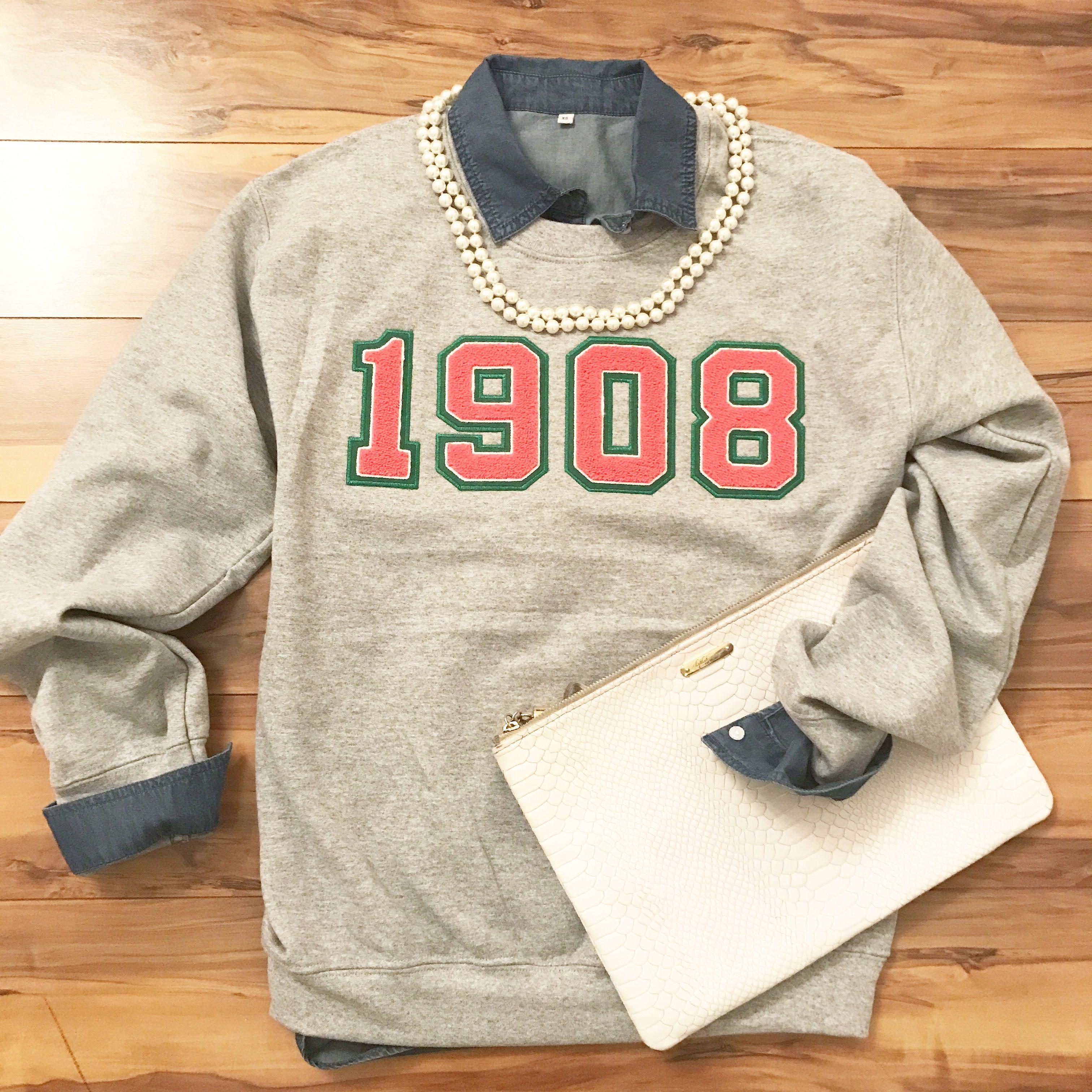 Fashionably Greek s Alpha Kappa Alpha Gray 1908 sweatshirts.  316debcbf