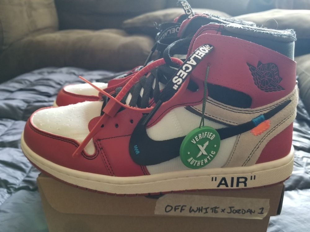 eBay  Sponsored Used Nike Air Jordan 1 x Off White Chicago size 9.5  w receipt ca2afce0b
