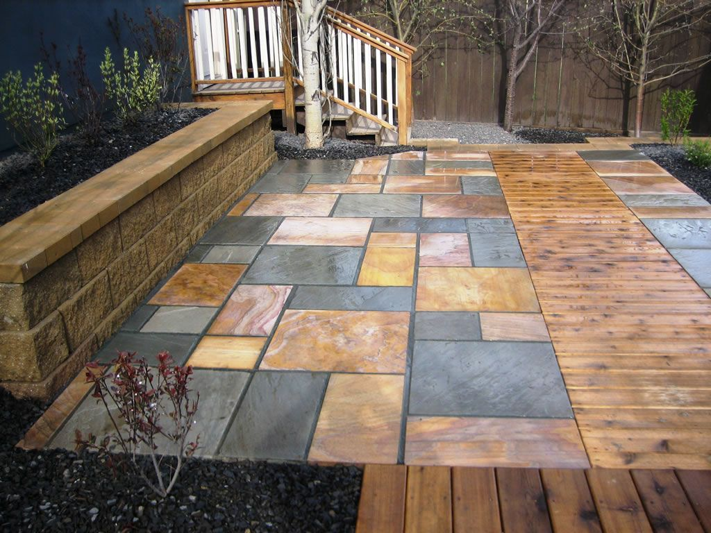 with that thought, we want to share 12 amazing stone patio designs ... - Rock Patio Designs