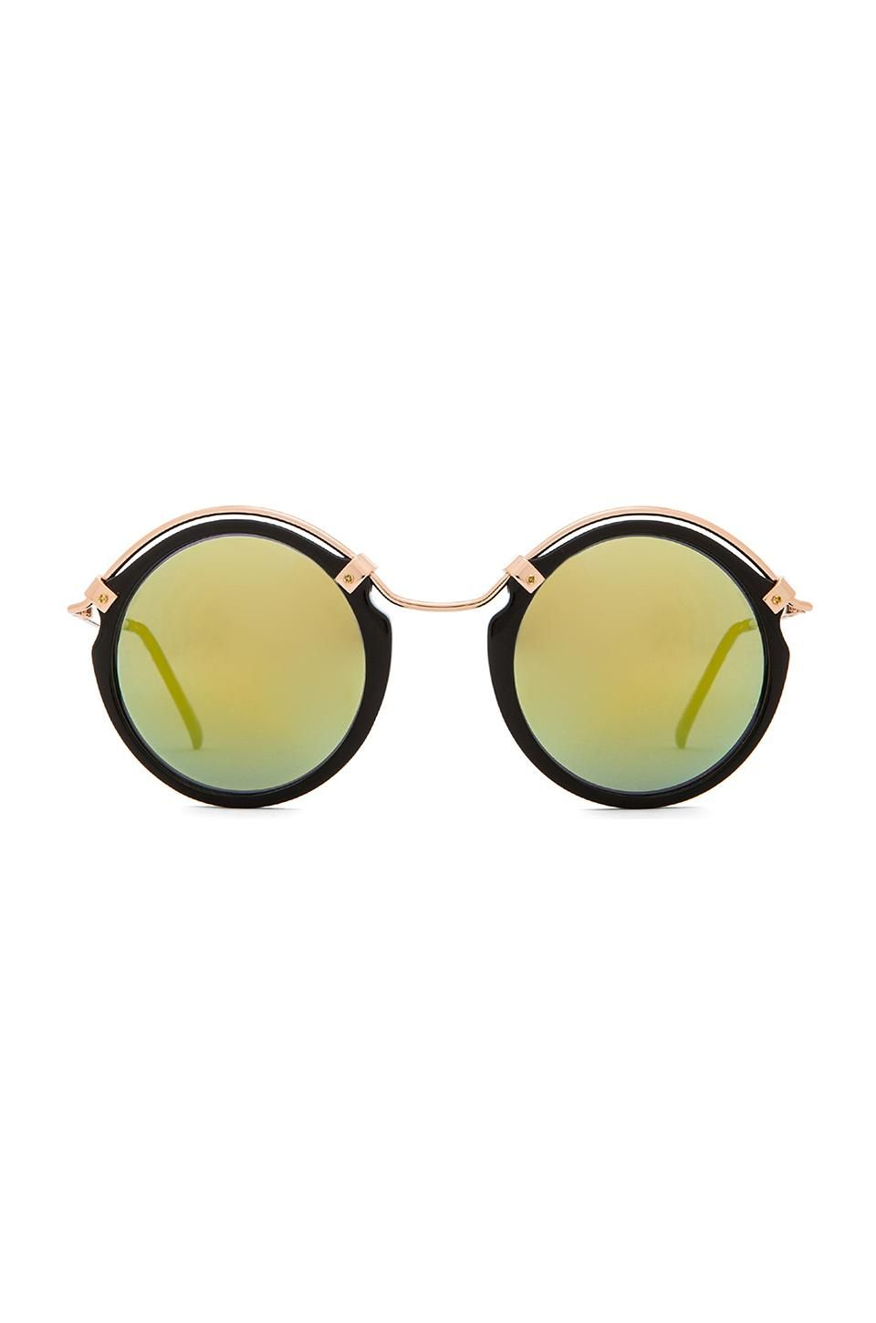 Spitfire A-Teen in Black & Gold Mirror | REVOLVE