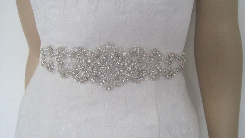 Gold belt for wedding dress  Crystal bridal sash belt Wedding dress beaded sash belt rhinestone