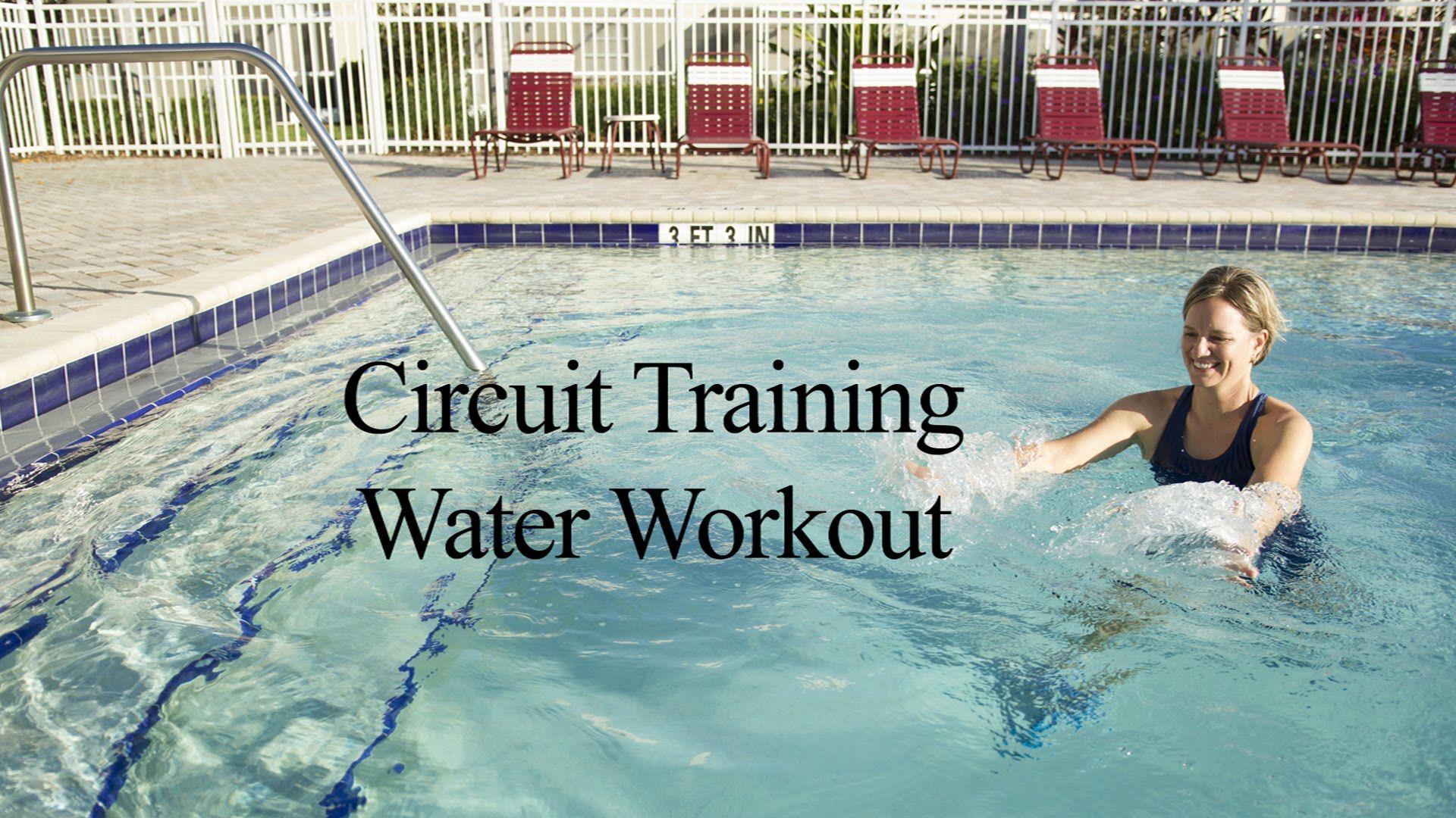 Upper Body Aqua Circuit Training 1 Wecoach Water Workouts Pinterest Water Aerobics