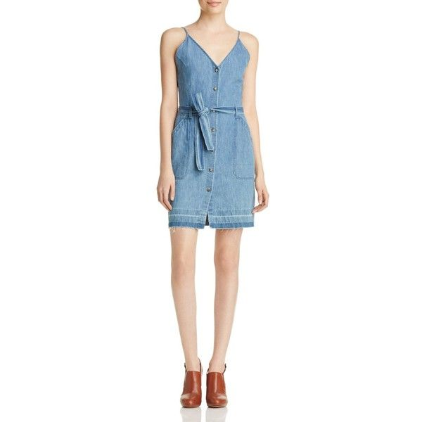 Paige Carmela Denim Dress 185 Liked On Polyvore Featuring Dresses Devoted