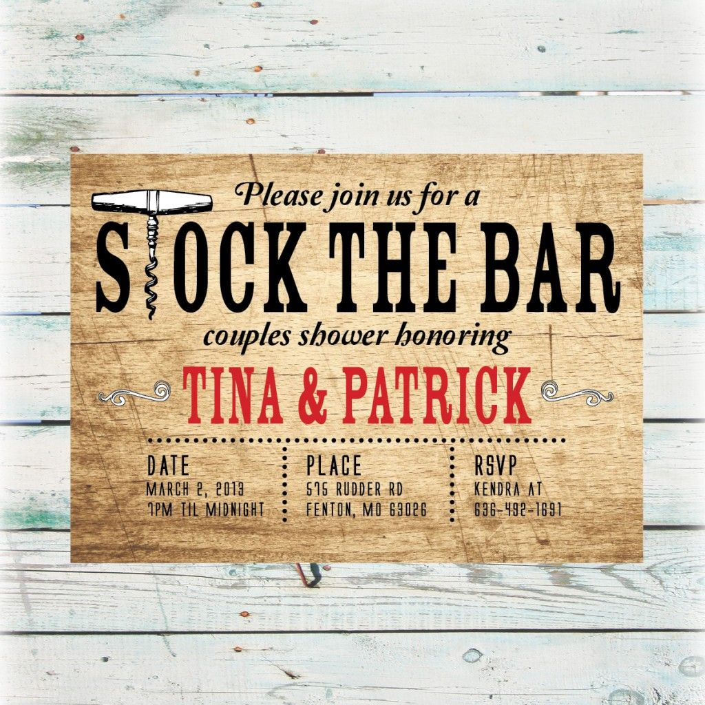 stock the bar party shower invitation copy - Google Search | Stock ...