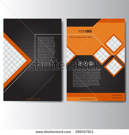 Creative orange and black annual report Leaflet Brochure Flyer - free annual report templates