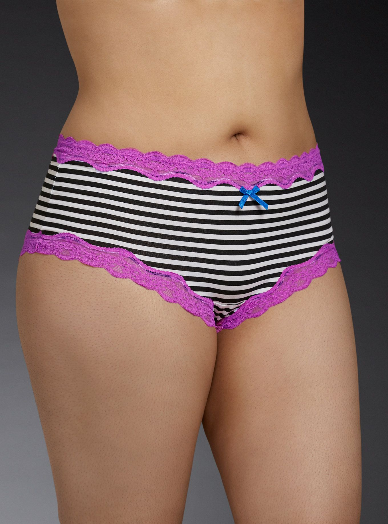 a1d2ac04c460 Striped Lace Trim Cheeky Panty | Torrid | Curvy Girl Lingerie That's ...