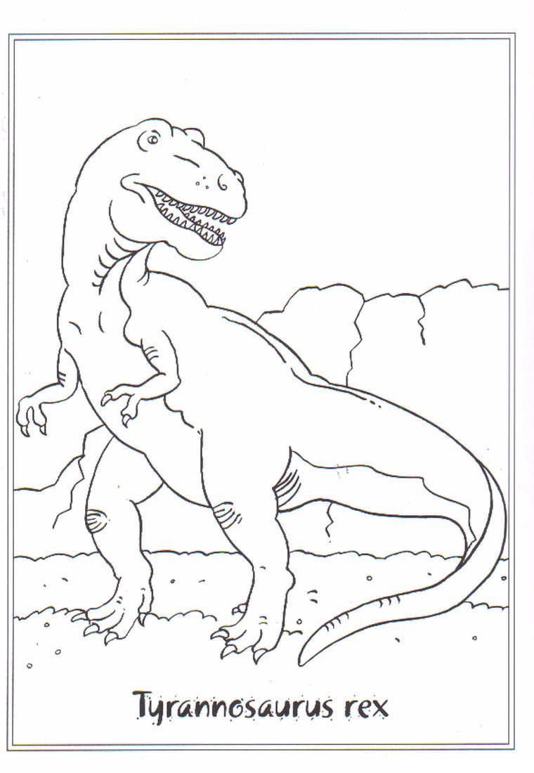coloring page Dinosaurs 2 - Tyrannosaurus rex | coloring | Pinterest ...
