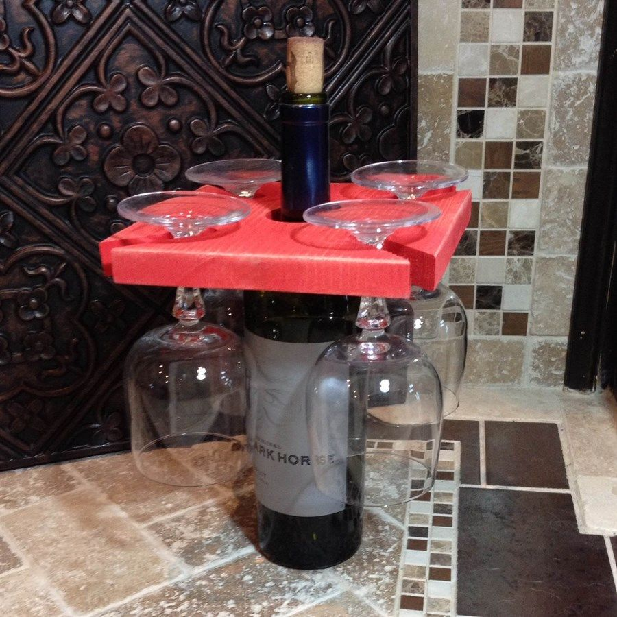 Rustic Wine Caddy Stained Or Distressed Rustic Wine Caddy Wine Caddy Wine Holder