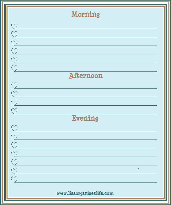 Large Morning, Afternoon, and Evening routine checklist. www ...