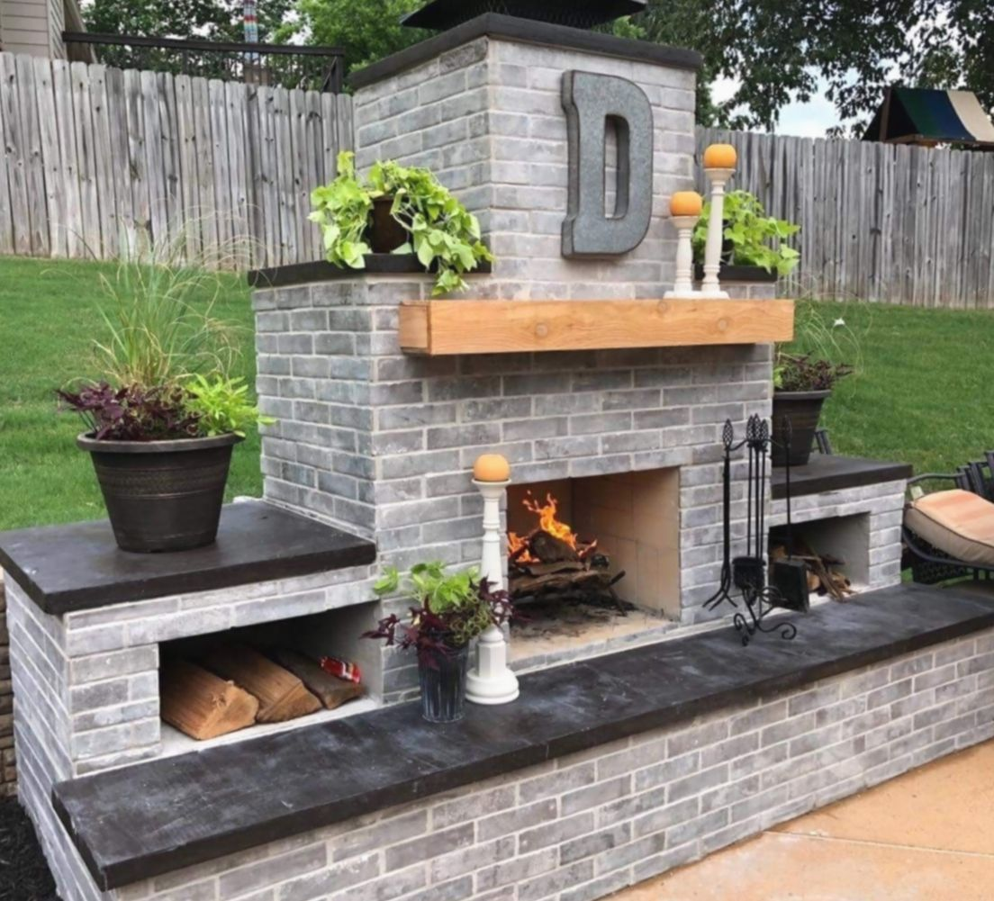 Pin By Rebecca Thompson Brown On Patio In 2020 Outdoor Fireplace