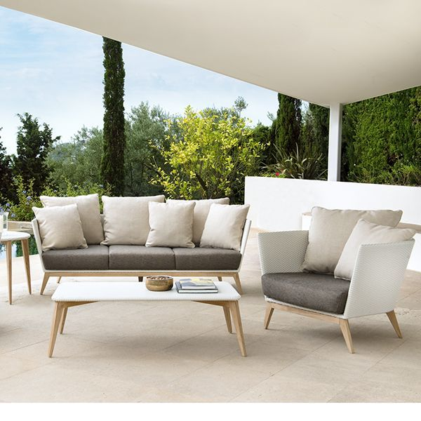 Lounge sofa outdoor  Point, Arc, Outdoor, Wicker, Patio, Lounge, chair, sofa ...