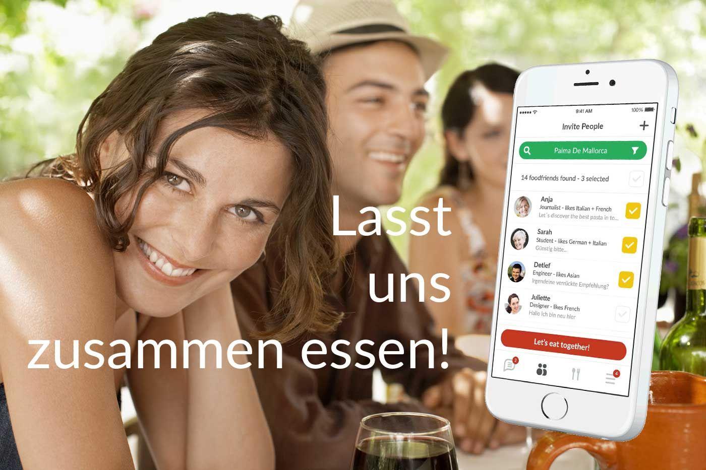 foodfriends ist eine neue App mit der man nicht nur die besten Restaurants findet, sondern auch die Leute, die man gerne mit am Tisch hätte!