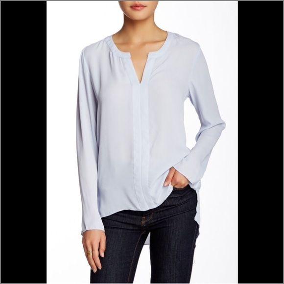 80e778fa5ad7eb Harlowe Graham drop hem blouse Details  - V-neck - Long sleeves - Hi ...