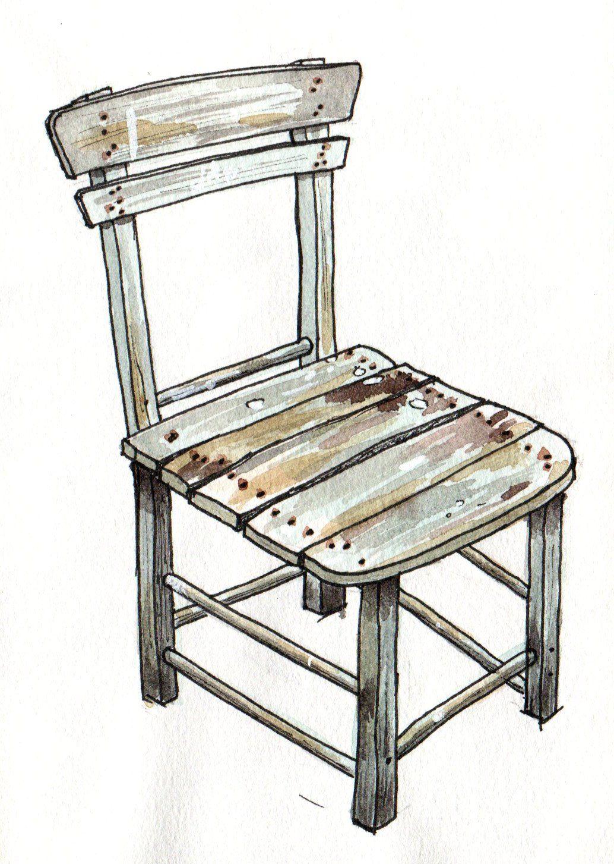 Wooden Chair Art Chair Wooden Chair Chair Drawing