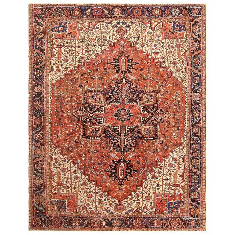 Antique Persian Heriz Rug Size 12 Ft 2 In X 15 Ft 4 In 3 71 M X 4 67 M Persian Heriz Rug Heriz Rugs Antique Persian Carpet