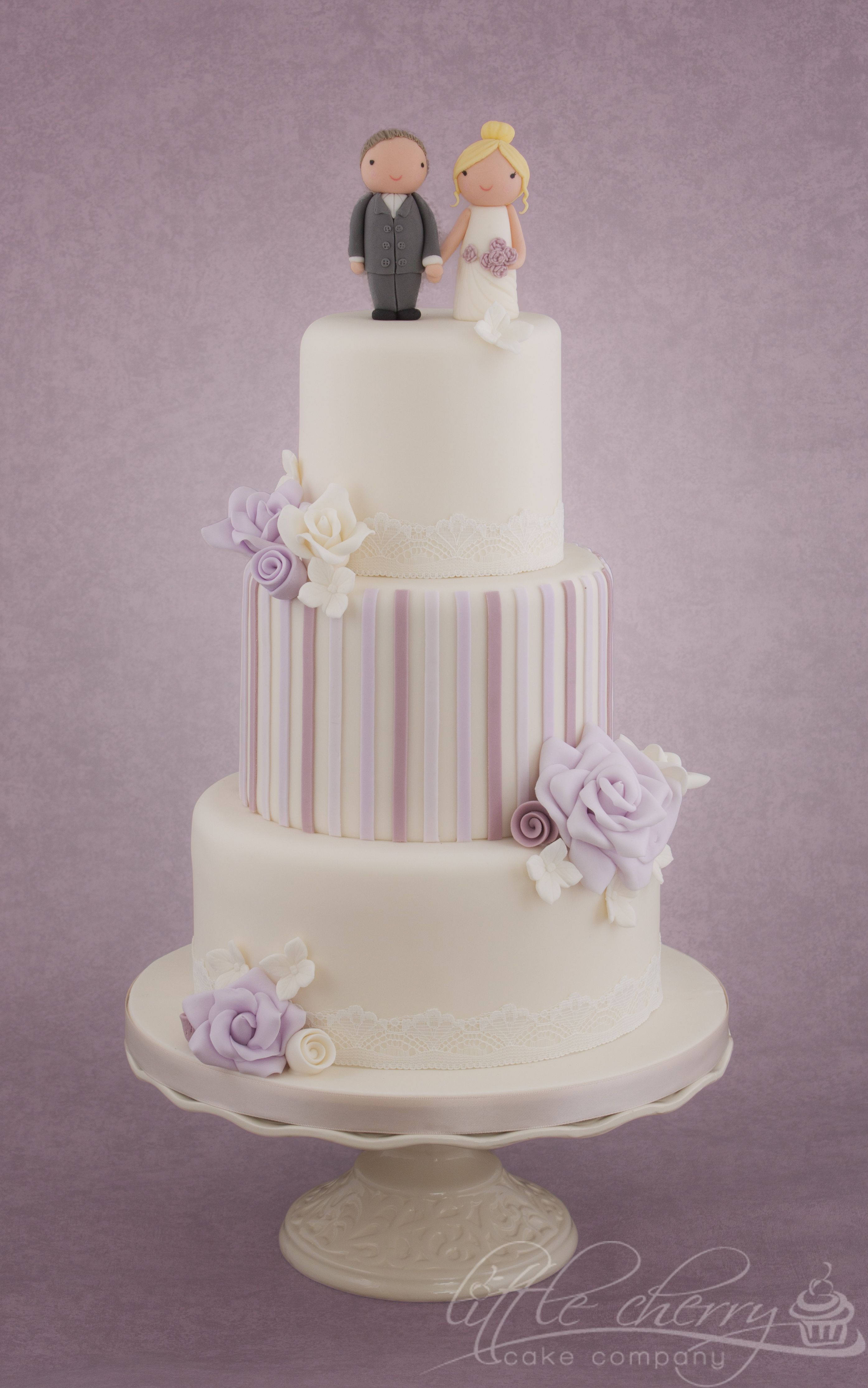 Lilac and lace wedding cake wedding cakes pinterest lace