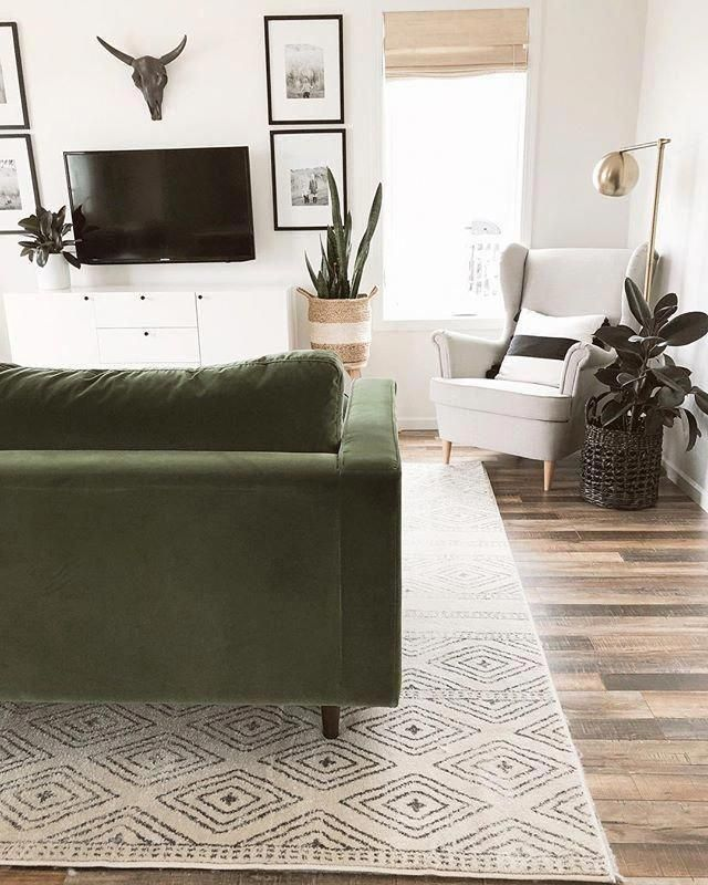 Sven Grass Green Right Sectional Sofa In 2020