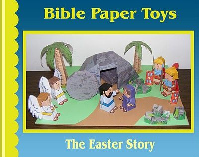 Easter Diorama Papercraft Papercraft Paradise PaperCrafts - free printable religious easter cards