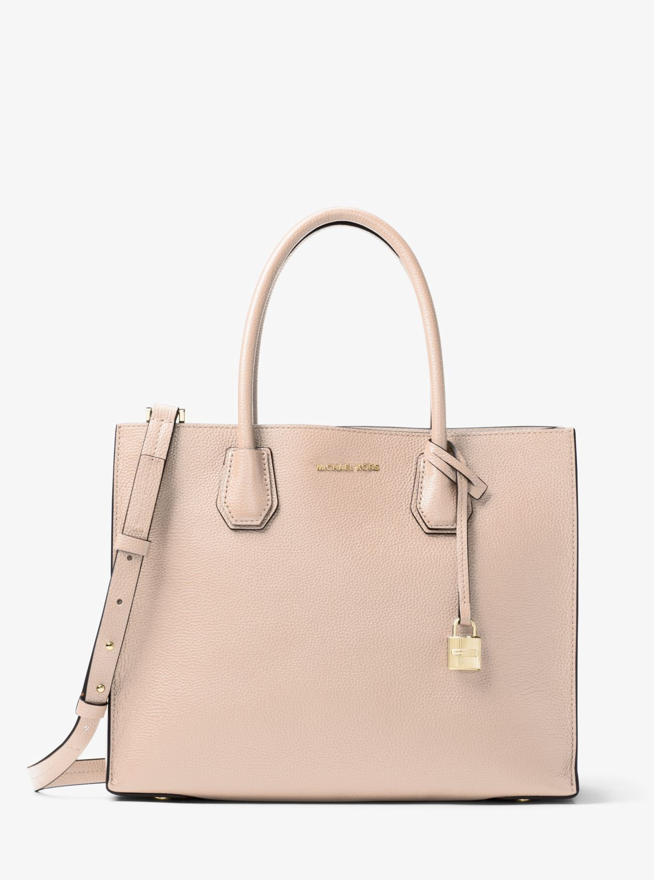 MICHAEL KORS Mercer Large Leather Tote.  michaelkors  bags  canvas  tote   leather  lining  polyester  shoulder bags  hand bags   cbe6a3ba6d83e